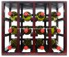 진열대 병 저장을%s 가진 공장 개략 포도주 진열대