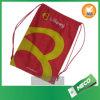 Le cordon chaud de polyester de vente folâtre le sac, sac de sac à dos d'usine de BSCI