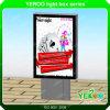 Público de la ciudad que hace publicidad del rectángulo ligero del perfil al aire libre de Auminum