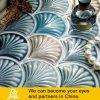 海洋様式の壁の装飾のための陶磁器のシェルの形のモザイク・タイル--a