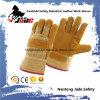 9.5 Pleins gants de travail de cuir de peau de vache de jaune de sécurité du travail de paume