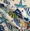 2018 bereitete neues China Textilsatin-Pfirsich-Gewebe Microfiber gedrucktes Gewebe für Kleid auf