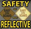 Kit magnético de la seguridad de la muestra reflexiva del bebé a bordo