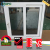 Fenêtre coulissante à impact Hurricane en PVC avec verre de teinte gris foncé