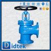 El borde de Didtek termina el asiento en válvula de globo estándar del ángulo del estruendo de Stellite