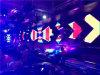 Pantalla de visualización fundida a troquel obra clásica de LED de la echada 6m m para el club