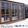 분말 코팅 석쇠 디자인 UPVC 여닫이 창 Windows
