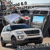 Ford Explorer Sync3ビデオインターフェイス鋳造物スクリーンのためのアンドロイド6.0 GPSの運行ボックス