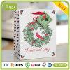 休日の赤い鳥の緑の枝芸術のギフトの紙袋
