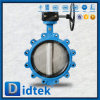 Didtek baixa fricção assentados em borracha macia da válvula de borboleta