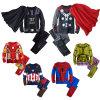 Le costume classique d'enfant en bas âge de Spiderman Ironman, costume de héros de dessin animé, badine des vêtements de garçon