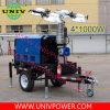 Generador de motor Perkins de hidráulica de la torre de iluminación LED