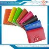 Monedero de la tarjeta de crédito del sostenedor de la PU del negocio de la carpeta de cuero al por mayor del caso para 20 tarjetas 8 colores