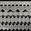 Bordure crantée par garniture hydrosoluble de bande de lacet de polyester pour la décoration intérieure/vêtements L147