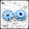 Laiton coloré en métal deux parts de bouton instantané de vêtements