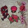 Красный цветок одежду, Parches Bordados Apliques исправлений, пошив одежды патч