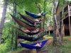 2 Men를 위한 휴대용 Outdoor Traveling Camping Parachute Nylon Fabric Hammock