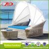 Rattan di vimini Sunbed della mobilia