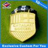 Medalla lujosa del metal con el oro plateado