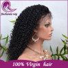 100% вьющихся волос человека Wig Glueless кружева с ребенком волос