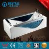 Hoogste Verkoper 2 de Opgeruimde Blauwe Badkuip van de Draaikolk van de Rok van het Glas met Hoofdkussen (BT-A1019)