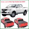 熱いHiluxビゴの二重タクシー2005+のトラックのための販売によって個人化される折るトノー