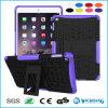 Cas dur hybride en caoutchouc de stand raboteux antichoc pour la languette de galaxie de Samsung d'iPad d'Apple