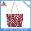 Sacchetto di spalla del sacchetto di acquisto del sacchetto della spiaggia del sacchetto di Tote della tela di canapa delle donne