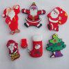 Commande promotionnelle d'instantané d'USB de PVC fait sur commande de moule/Modeld de série de Noël de père