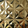 Verein-Hotel-Wand-dekoratives materielles Goldfarben-Stempel-Edelstahl-Panel-Blatt