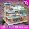 Stuk speelgoed W04b049 van de Garage van het Parkeren van de Kinderen van nieuwe Producten het Grappige Houten