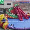 プール(移動式水公園014)が付いている膨脹可能な水公園のおもちゃ