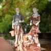 La figure fontaine en marbre Multi-Color pour la décoration de jardin T-5781