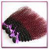 方法Ombreカラー1b 99jねじれた巻き毛のインドのバージンの人間の毛髪の織り方2つの調子の赤いOmbreのヘアケア製品