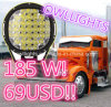185 와트 Cre E LED Work Lamp, LED Car Accessories Driving Light SUV Boat Driving Lamp Flood와 Spot