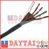 실내 & 옥외 통신망 FTP Cat5e 근거리 통신망 케이블 HDPE+CCA+Pet/Al+Rip 코드