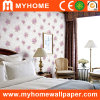 Embossed floral Wall Paper para Decoration Material