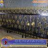 金属のドアの鋼鉄ゲートの庭の塀の錬鉄力のコーティングの鋼鉄塀の鉄の塀デザイン