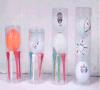 Pet plástico duro claro Campo de Juego de bola de embalaje tubo redondo