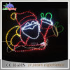LED 아름다운 산타클로스 별 크리스마스 훈장 빛