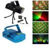 Luz de la Navidad ligera de DJ de la Navidad roja clara/verde de la mini etapa del laser