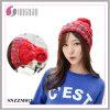 Лучший дизайн красивых девушек Rainbow акрилового волокна с бархатным трикотажные Red Hat