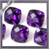 화려한 Shining Cushion Cut 5X5mm Beautiful Purple Natural Amethyst