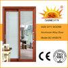 Черный грецкий орех сползая алюминиевую стеклянную дверь для ванной комнаты (SC-AAD078)