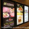 Tableau de menu à LED monté sur mur magnétique