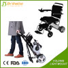 Cadeira de rodas elétrica inteligente ao ar livre de dobramento do assento para pés traseiro com rodízio do plutônio