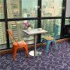 Estilo Rustico mesa de restaurante con sillas de metal