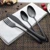 Nc006 Elegentのステンレス鋼の黒の食事用器具類または平皿類セット