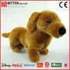 Perro suave realista del Dachshund de la felpa del juguete del animal relleno En71