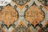 有名なデザイナーによる高級なファブリックソファーデザインのオレンジジャカードパターン